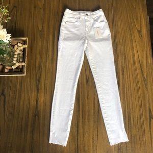 Good American Good Legs Crop cascade hem jeans